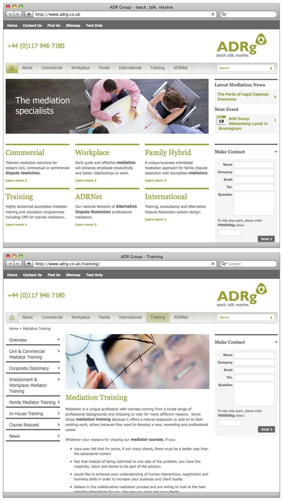 ADR Group website