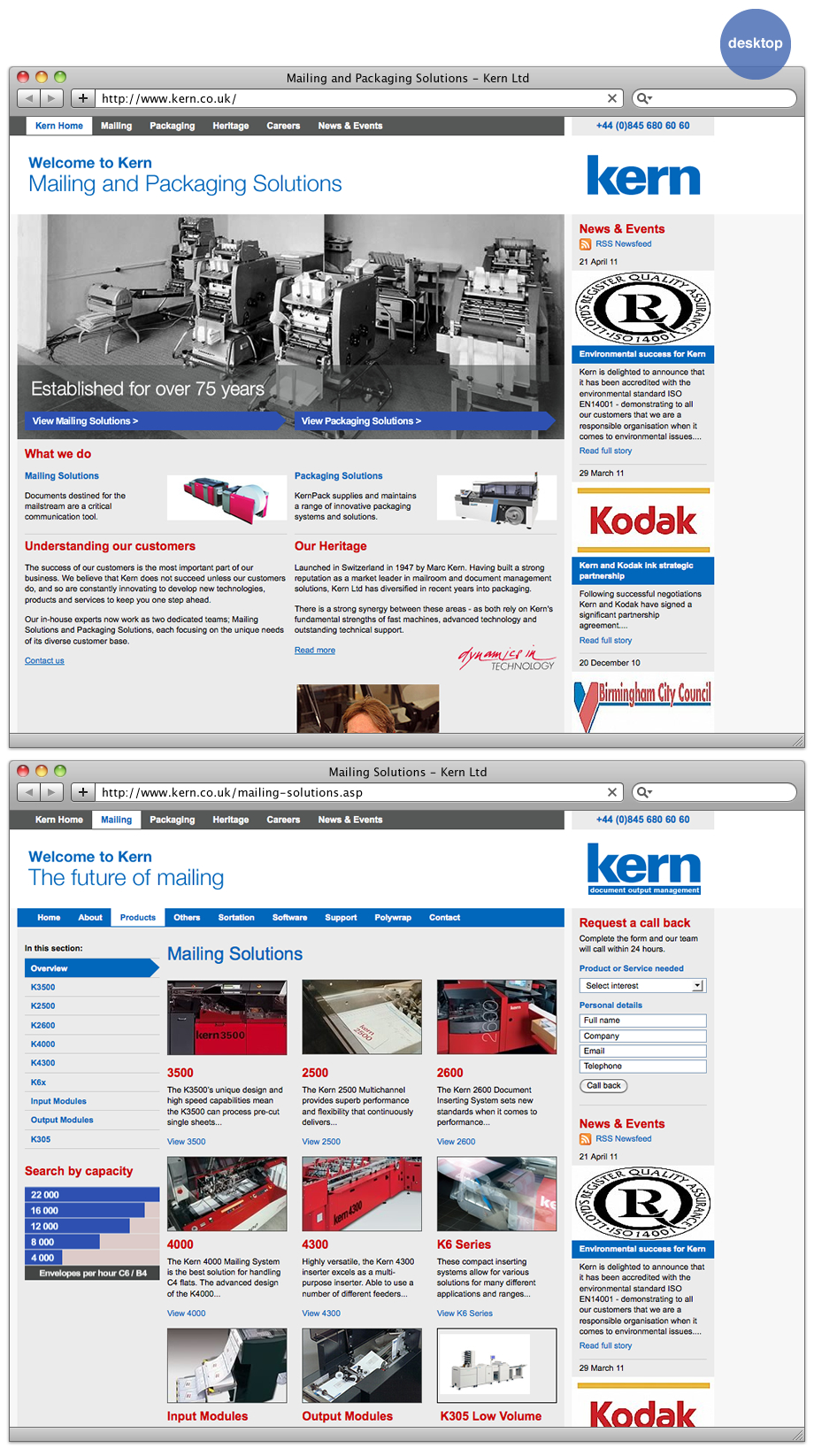 Kern website