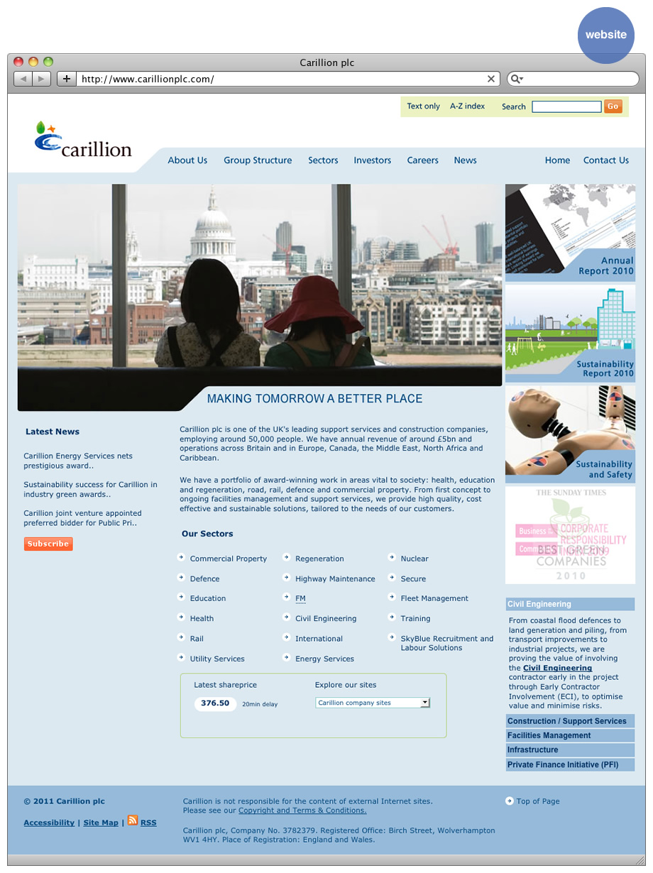 Carillion website